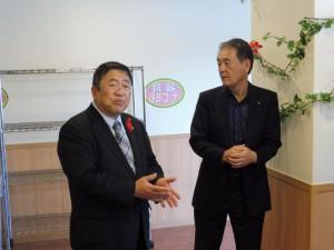 山本宮古市長様と懇談する柴会長